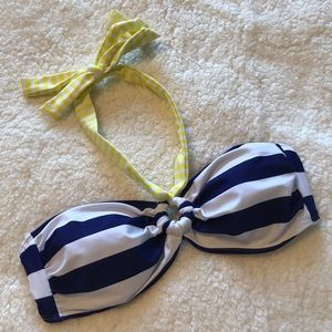 Old Navy   Bandeau Halter Swimsuit Top Blue Yellow
